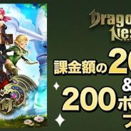 『ダービーインパクト』『ドラゴンネスト M』が「au ゲーム」で配信開始…課金額の20%還元&ポイントプレゼントキャンペーンを開催