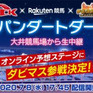 ドリコム、『ダビマス』でTCK、楽天競馬とのコラボ実施! 8日開催のジャパンダートダービーでオンライン予想ステージを生配信