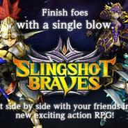 コロプラ、ひっぱりアクションRPG『スリングショットブレイブズ』の英語版を全世界のApp Storeでリリース