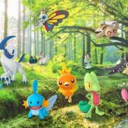 Nianticとポケモン、『ポケモンGO』でホウエン地方で発見されたポケモンが、いつもより多く野生で出現! 「キモリ」「アチャモ」「ミズゴロウ」など