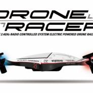 地上35cmの地面すれすれを滑空するドローン・レーサーの発表会が開催