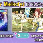 バンナム、『ミリシタ』で楽曲「Starry Melody」に13人ライブを追加!