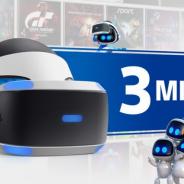 PSVRが世界累計の実売台数300万台を達成 プレイ数の多いタイトルベスト10も公開へ