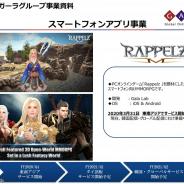 ガーラ、『Rappelz Mobile』を東南アジアで3月31日よりサービス開始 今後タイ語版と韓国語版、グローバル版をリリース予定
