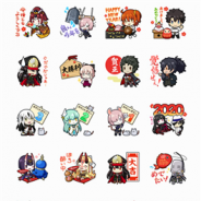 ディライトワークス、『Fate/Grand Order』公式年賀スタンプ第2弾を発売 日本ゆかりのサーヴァントを中心に描きおろしスタンプ40種が登場