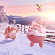 Nianticとポケモン、『ポケモンGO』で「Pokémon GO バレンタイン」開始 ピンク色の姿のポケモンたちが登場