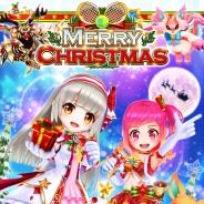 コロプラ、『白猫テニス』利用者1000万人突破を記念したキャンペーン…クリスマスらしい装いのルウシェとリリカがガチャに登場