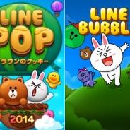 LINEの『LINE POP』、世界累計4000万DLを突破! 『LINE バブル』も3000万DLを突破!