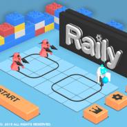 カプコン、「つくれん」プロジェクト最新作『Raily』を配信開始 敵までロボを誘導してパンチで撃破…新感覚レールアクションゲーム