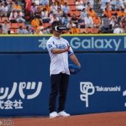 """サムスン、プロ野球界初の""""VR始球式""""を横浜スタジアムで開催"""