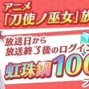 スクエニ、『刀使ノ巫女 刻みし一閃の燈火』でTVアニメ20話放送を記念して「虹珠鋼」×100をプレゼント