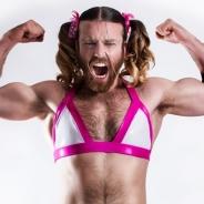 アンビションの育成&恋愛SLG『虹色カノジョ』の宣伝隊長にヒゲ女装パフォーマー「Ladybeard」が就任