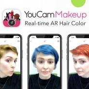 ビューティーアプリ『YouCam メイク』にARヘアカラー機能を搭載 ブルカラーなど染める前のイメージチェックが可能に