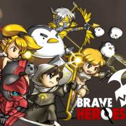 COM2US、チームバトルオフェンスゲーム『ブレイブヒーロー』をApp Storeで配信開始