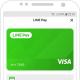 LINE Pay、Visaと提携 加盟店での支払いが可能に