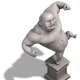 DeNA、『進撃の巨人 -自由への咆哮-』と3DS用ソフト『進撃の巨人~人類最後の翼~CHAIN』のコラボ企画を開始 オリジナル巨人の石像が登場