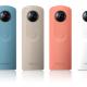 RICOHの360度カメラ『THETA』に新モデル登場 少し軽くなってカラバリは4色の手軽に楽しめるスタンダードモデル