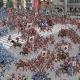 バンナム、東京・名古屋・大阪・福岡・札幌で『キングダム セブンフラッグス』の「動く戦国合戦図」広告を展開 「王騎討伐キャンペーン」も実施