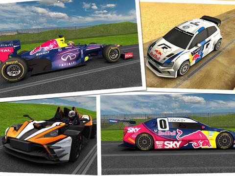 ゲーム中に登場するレースカーには、レッドブル・レーシングが2013年のF1世界選手権参戦用に開発されたフォーミュラ1カーの「レッドブル・RB9」、FIA  世界ラリー選手権